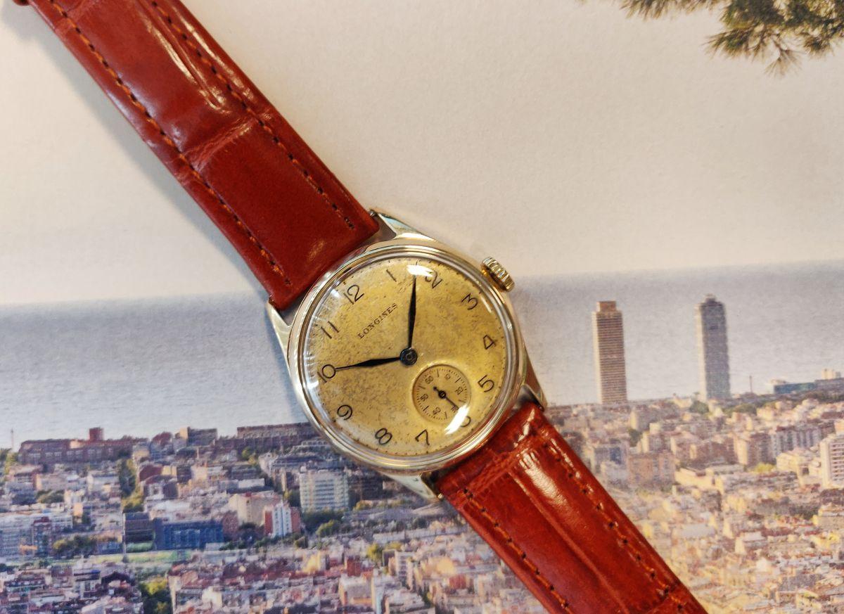 vintage longines geelgoud 14 karaatmechanisch horloge 3