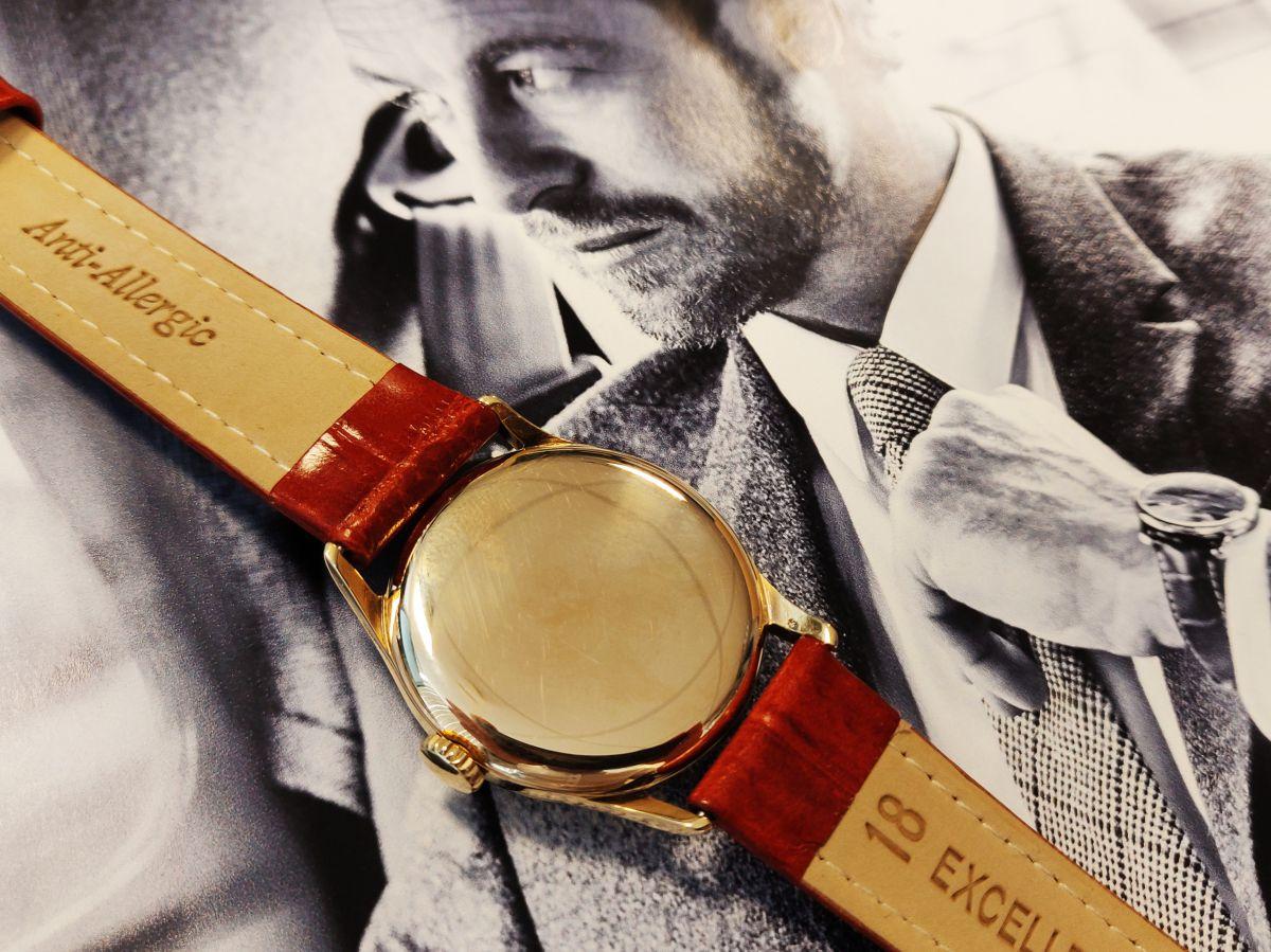 vintage longines geelgoud 14 karaatmechanisch horloge 5