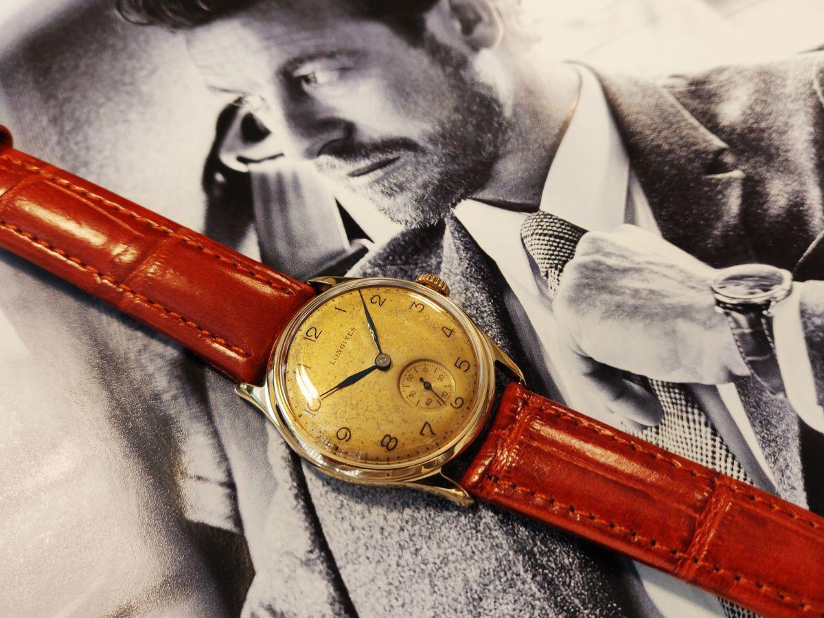 vintage longines geelgoud 14 karaatmechanisch horloge 6