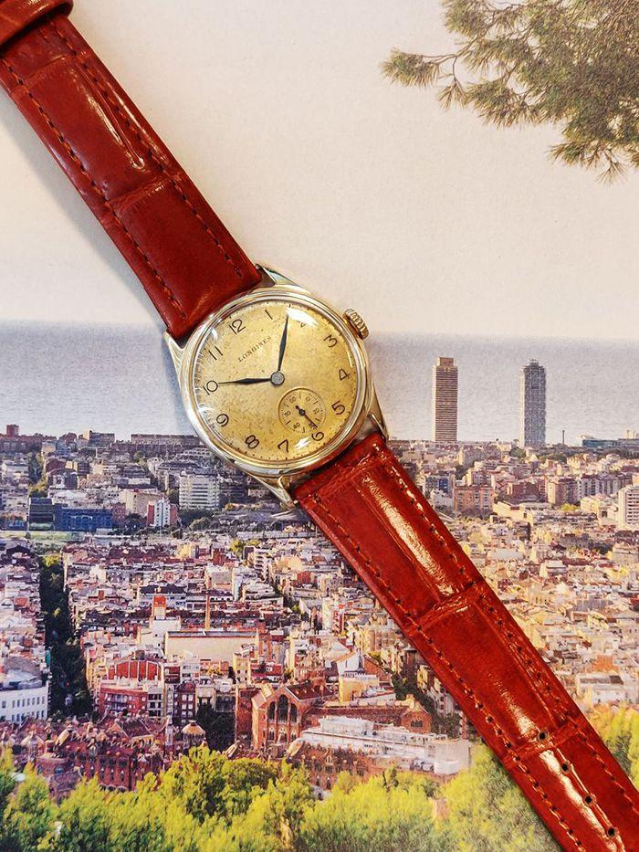 vintage longines geelgoud 14 karaatmechanisch horloge 1