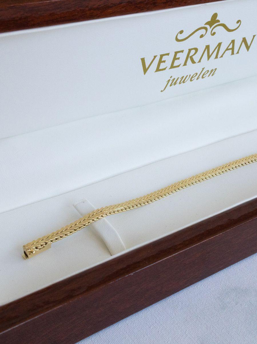 geelgouden visgraat armband