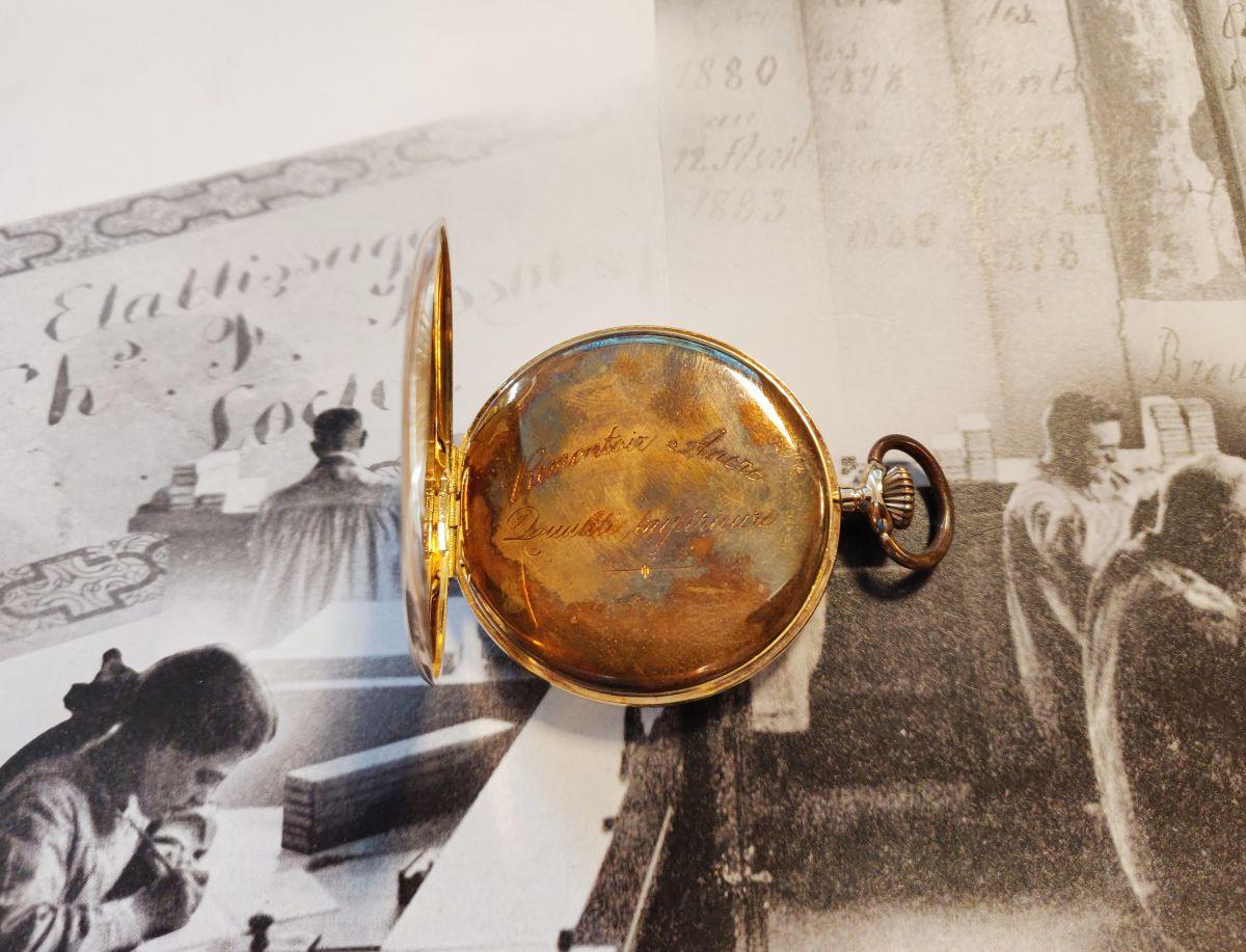 geelgouden zakhorloge chronometre 6