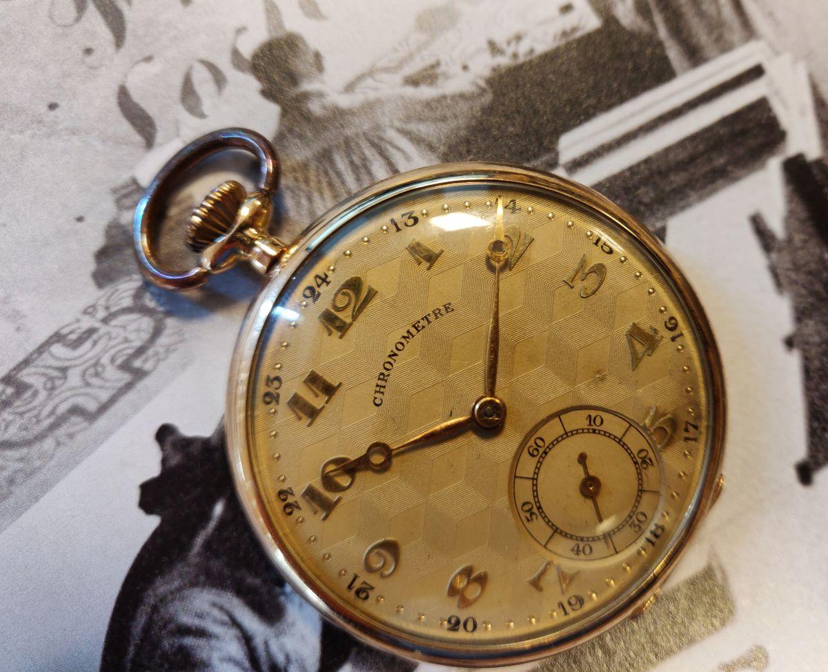 geelgouden zakhorloge chronometre 2