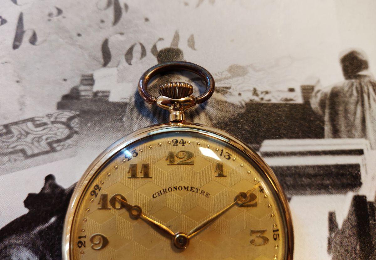 geelgouden zakhorloge chronometre 4