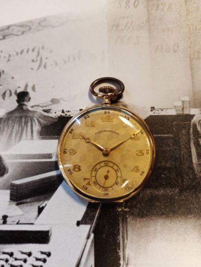 Geelgouden zakhorloge Chronometre