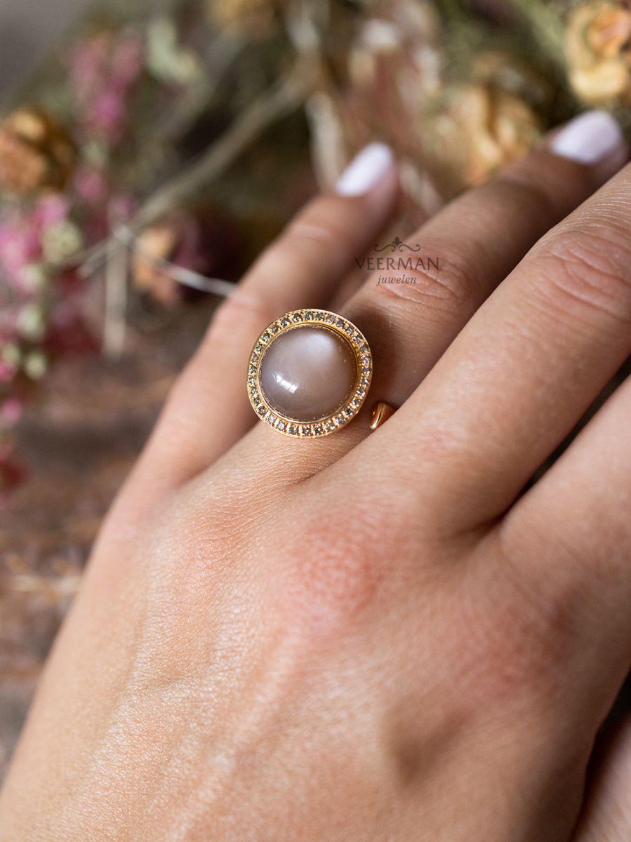 al coro ring maansteen en diamant nr8662cr 3