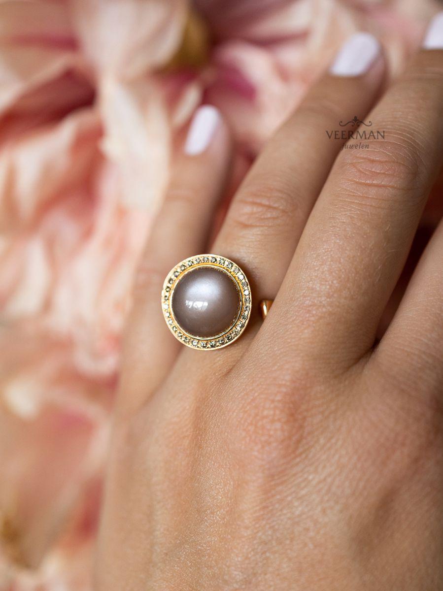 al coro ring maansteen en diamant nr8662cr 4