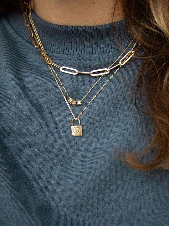 gouden anker collier 45 cm 14 karaat 3