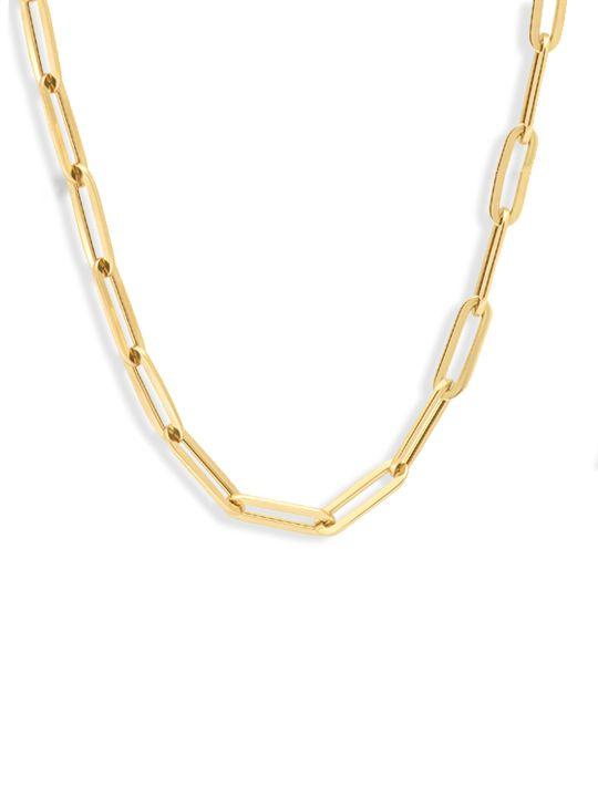 gouden anker collier 45 cm 14 karaat