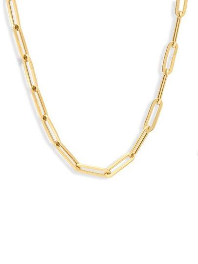Gouden anker collier