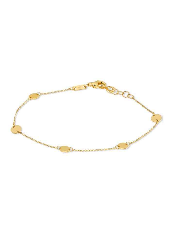 gouden armband met plaatjes 14 karaat