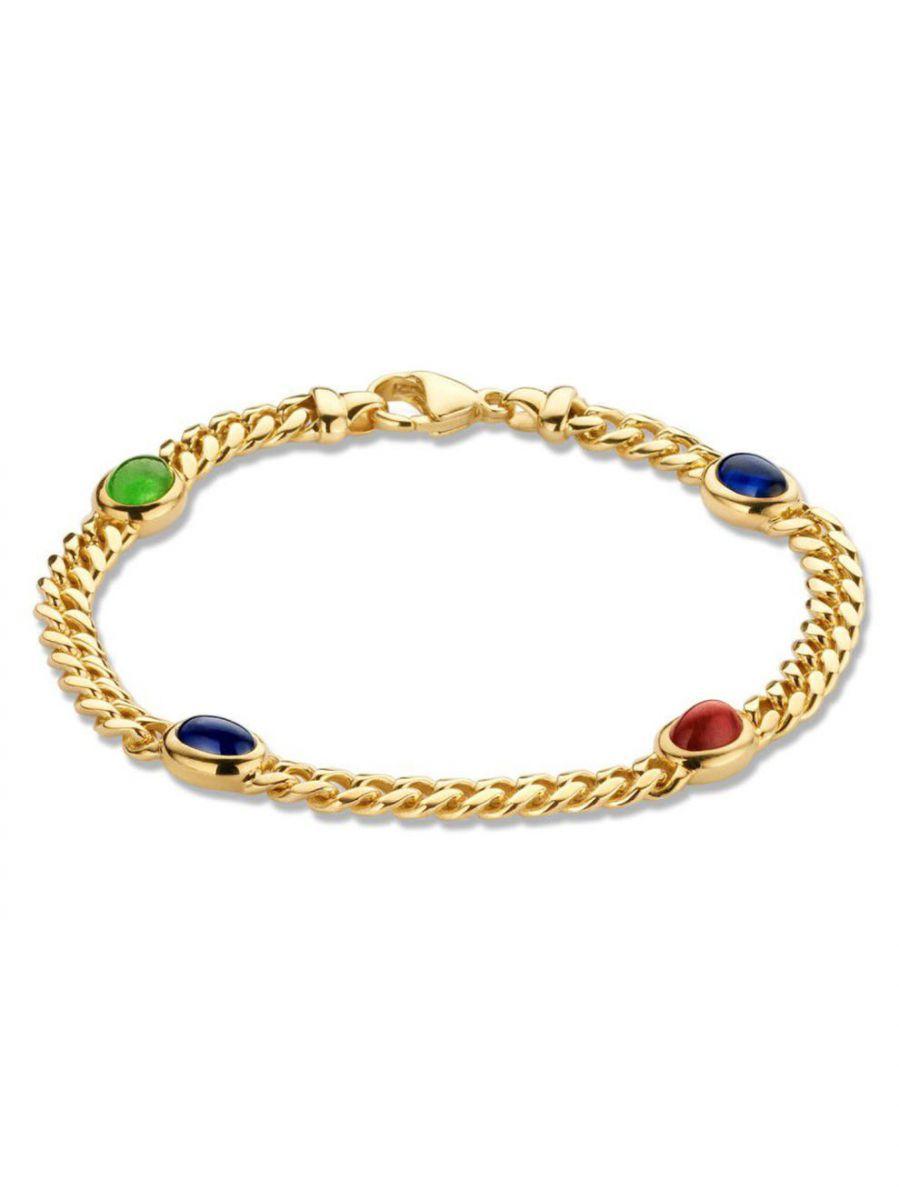 gouden armbandmetsaffier robijn en smaragd