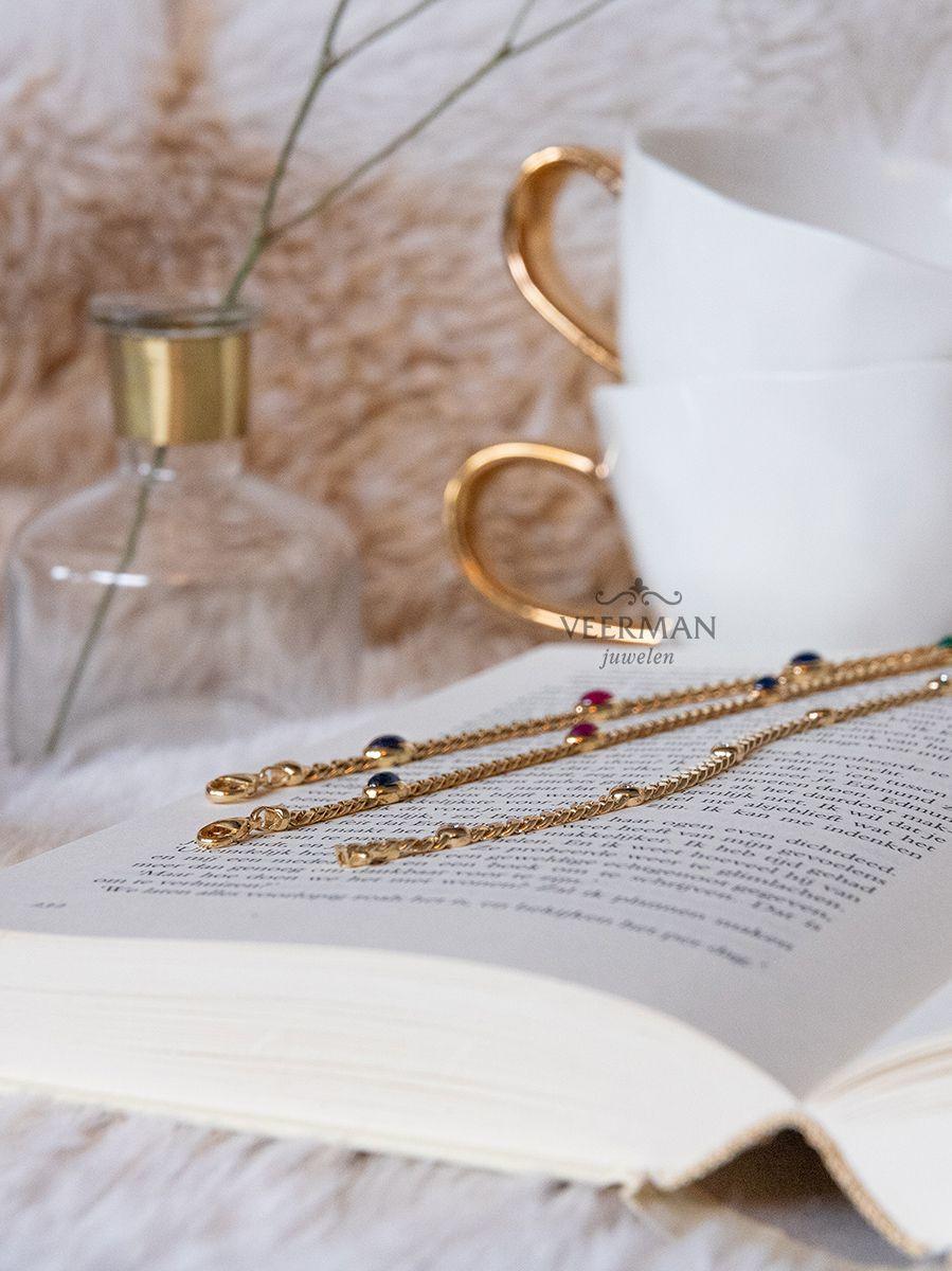 gouden armbandmetsaffier robijn en smaragd 4
