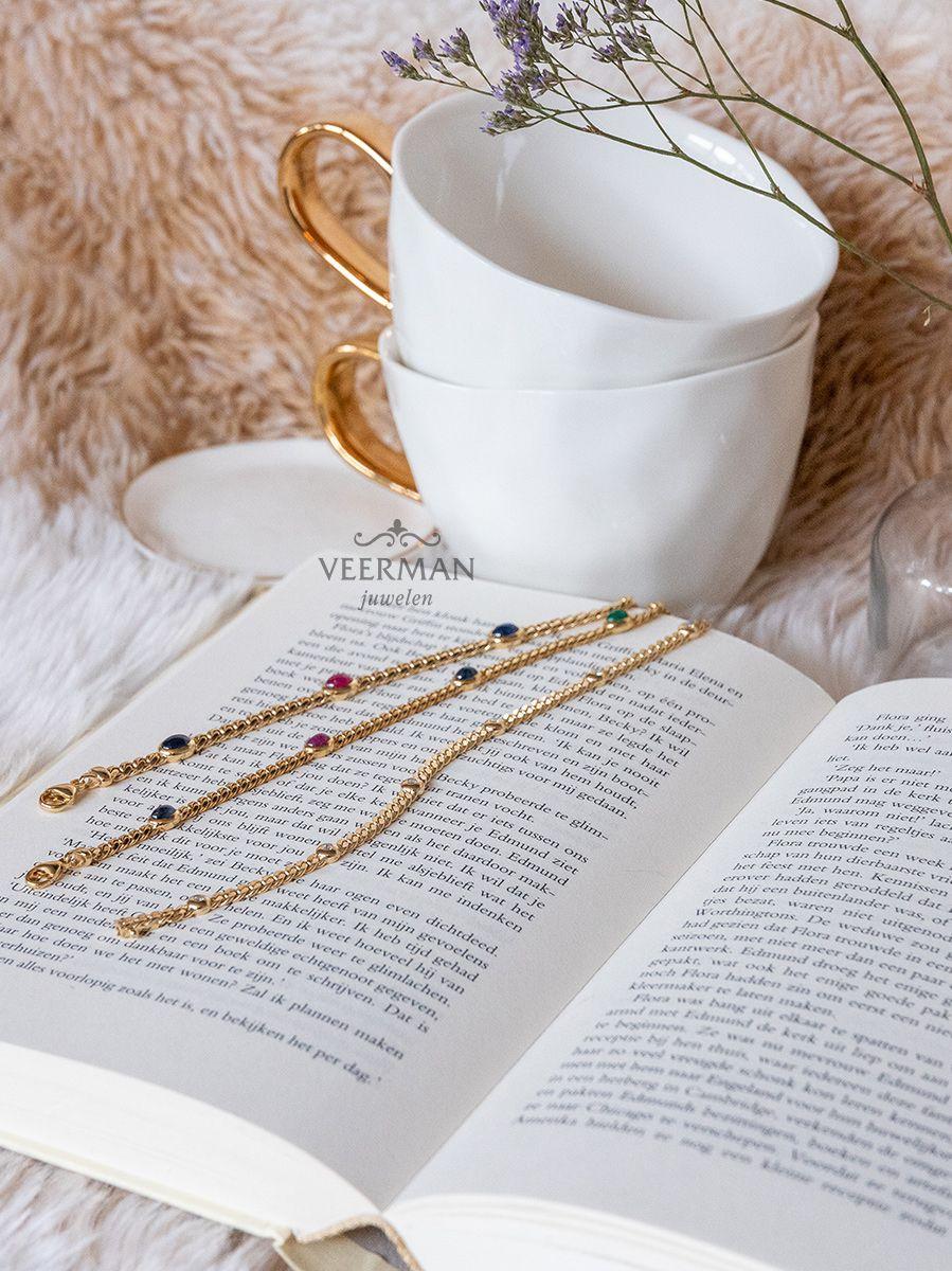 gouden armbandmetsaffier robijn en smaragd 3