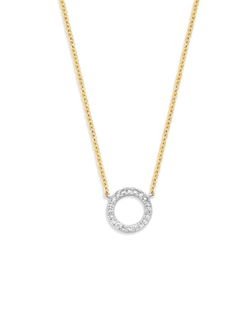 gouden kettinkje met diamant 011 crt