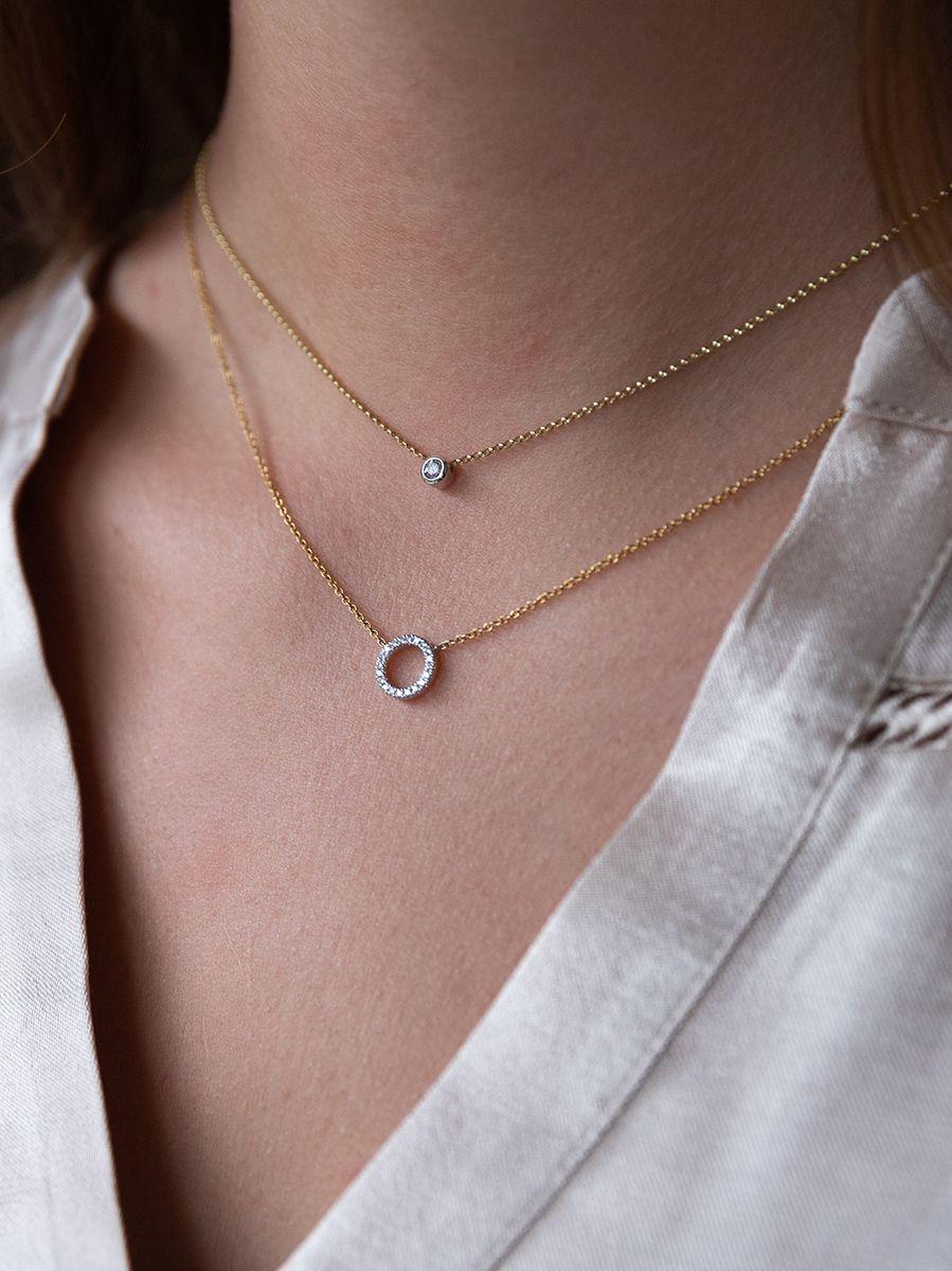 gouden kettinkje met diamant 011 crt 2
