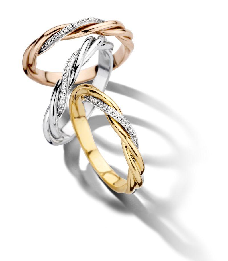 geelgouden ring met diamanten 2