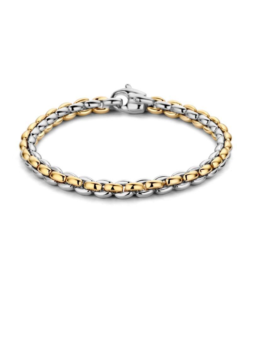gouden schakelarmband bicolor