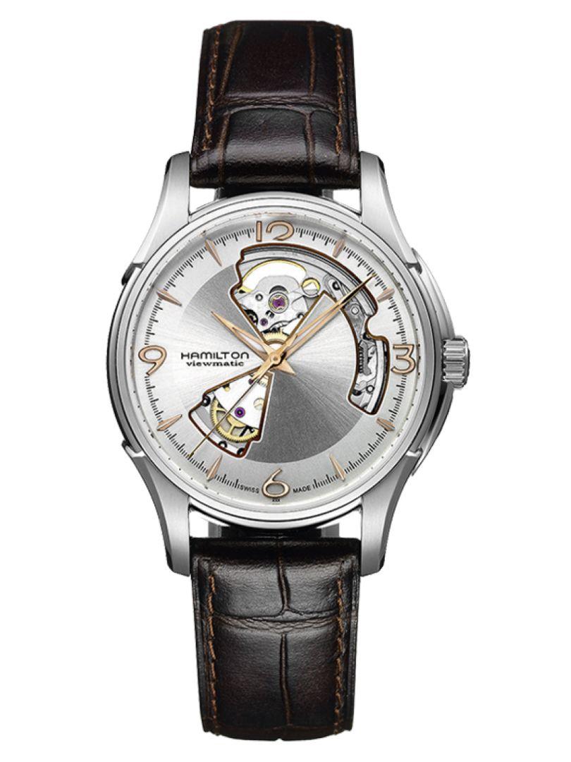 hamilton jazzmaster open heart auto horloge h32565555