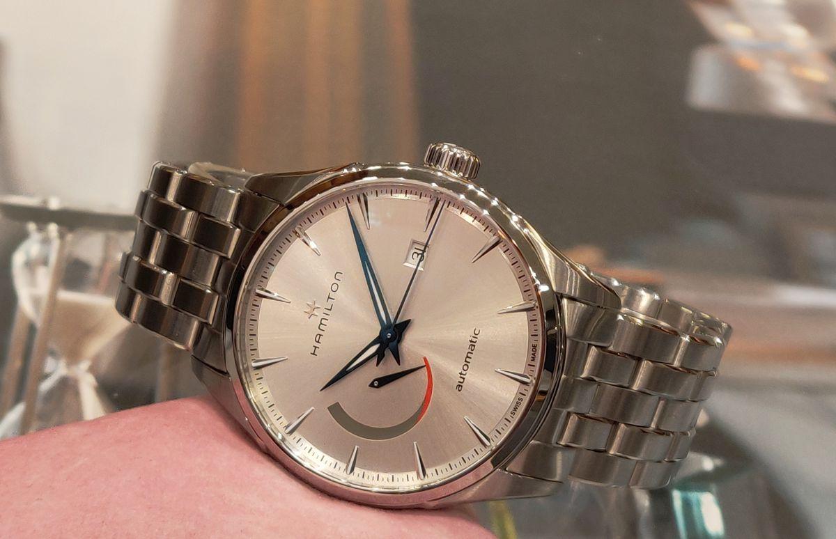 hamilton jazzmaster power reserve horloge h32635181 2
