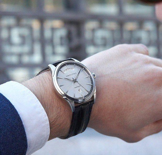 hamilton jazzmaster day date horloge h42565151 2