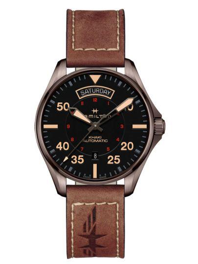 H64605531 Khaki Pilot Day Date