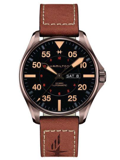 H64705531 Khaki Pilot Day Date