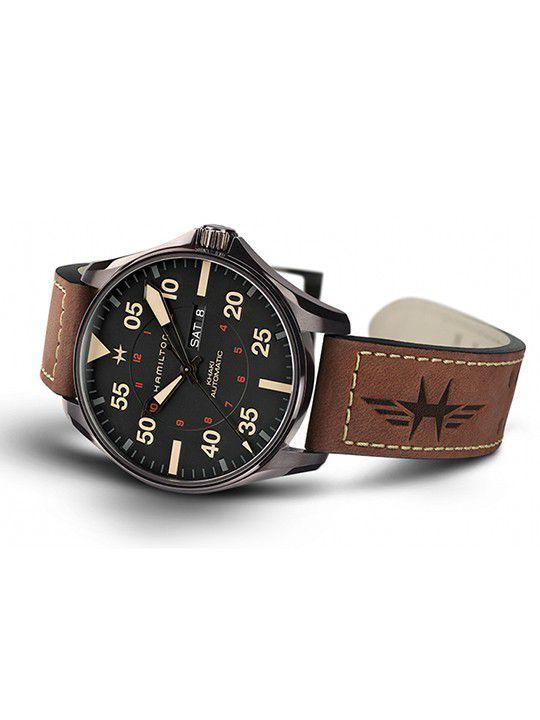 hamilton khaki pilot day date h64705531 2