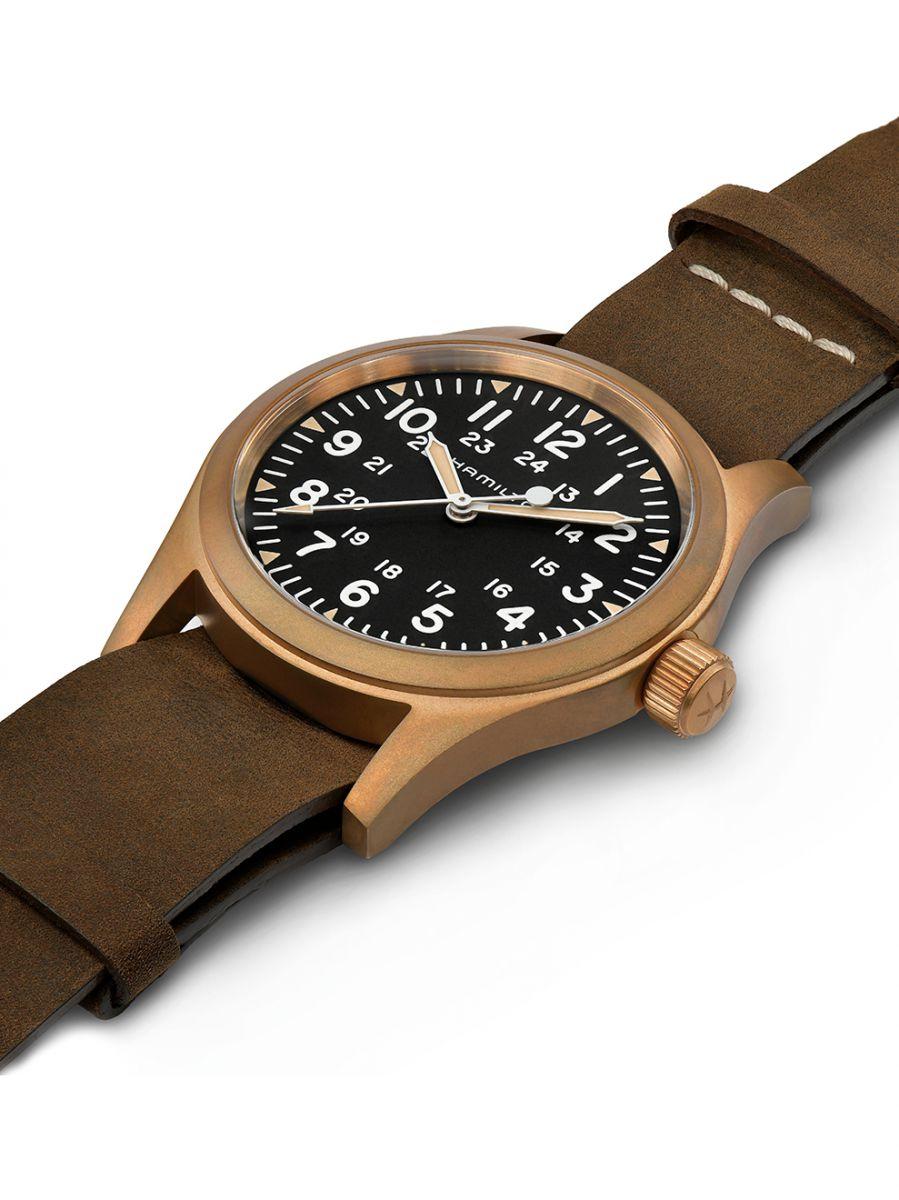 hamilton khaki field mechanical horloge h69459530 2