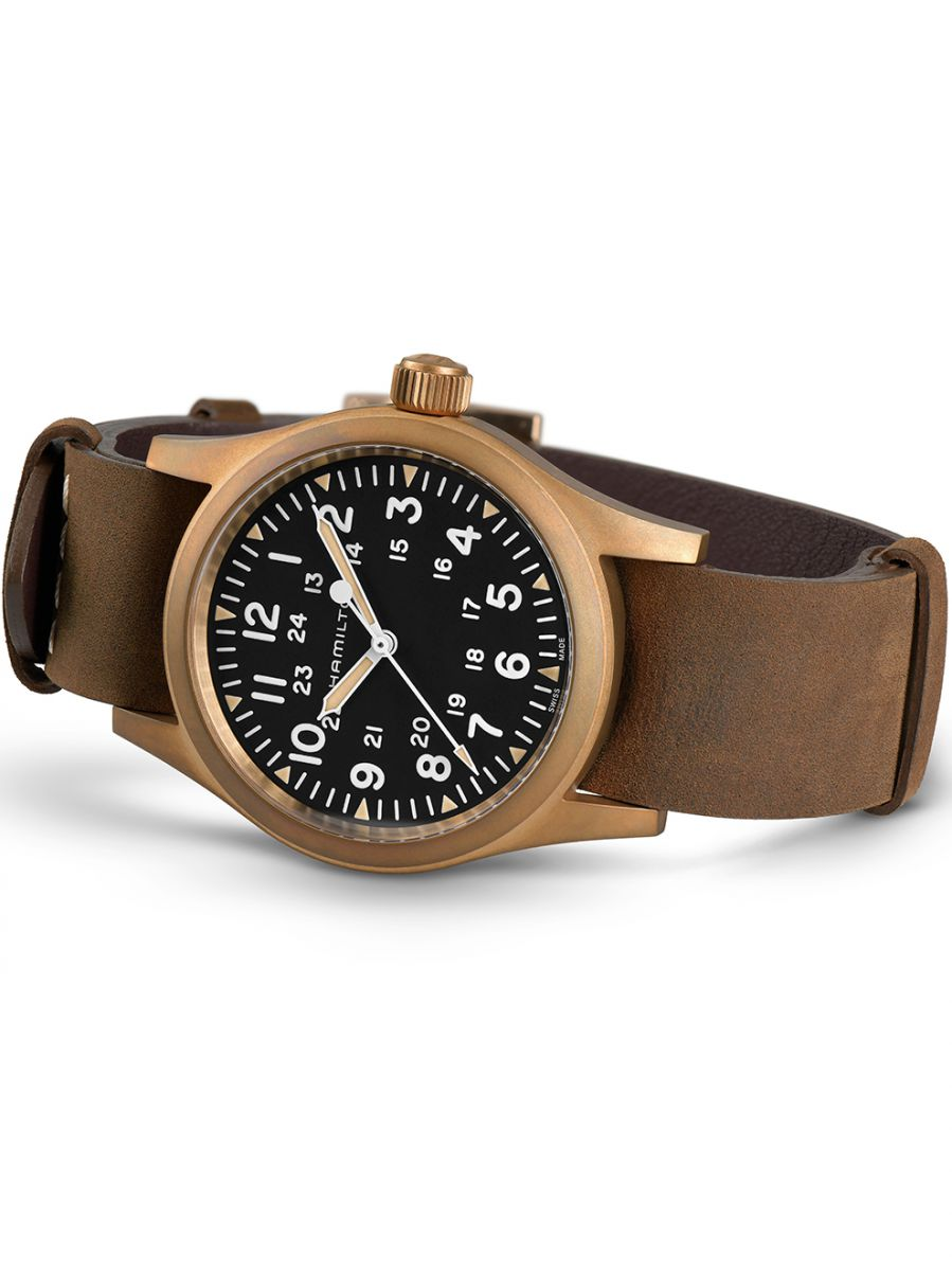hamilton khaki field mechanical horloge h69459530 3