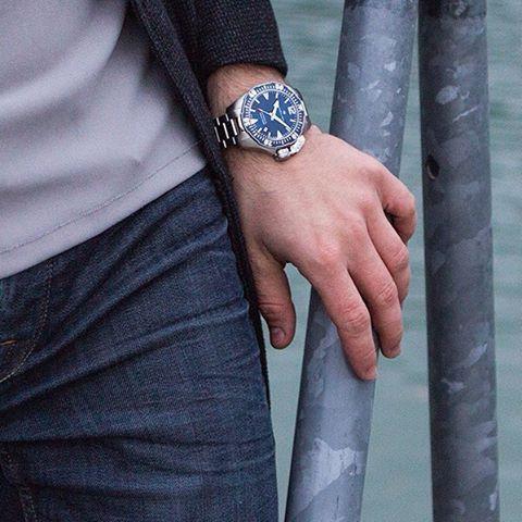 hamilton khaki navy frogman horloge h77605135 2