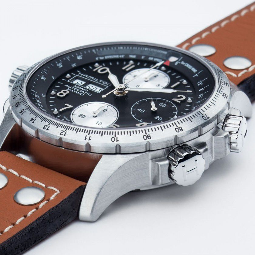 hamilton khaki aviation xwind auto chrono horloge h77616533 3