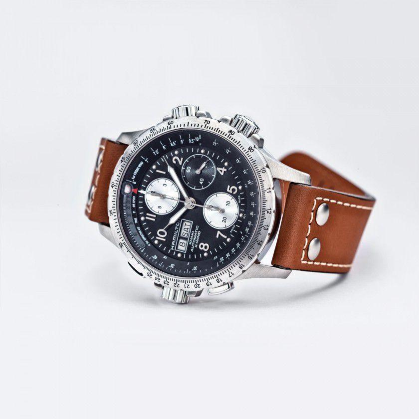 hamilton khaki aviation xwind auto chrono horloge h77616533 2