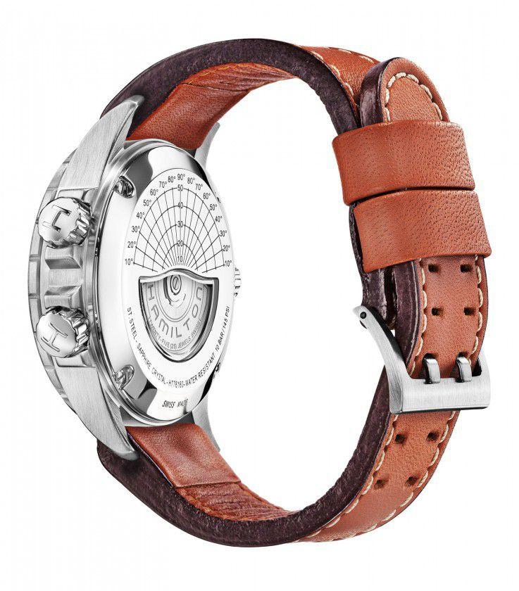 hamilton khaki aviation xwind auto chrono horloge h77616533 4
