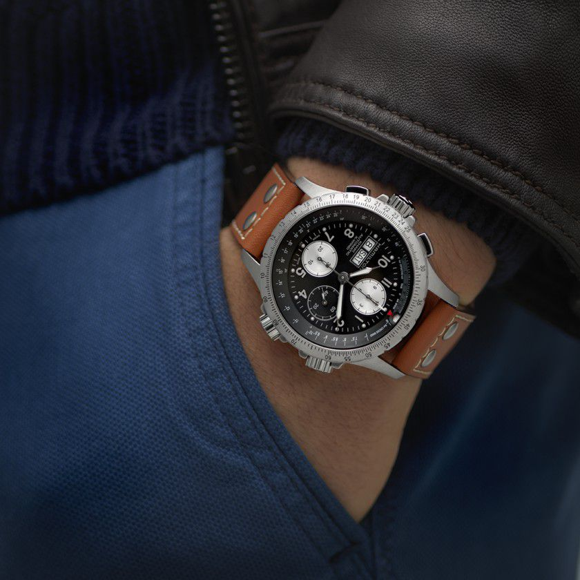 hamilton khaki aviation xwind auto chrono horloge h77616533 7