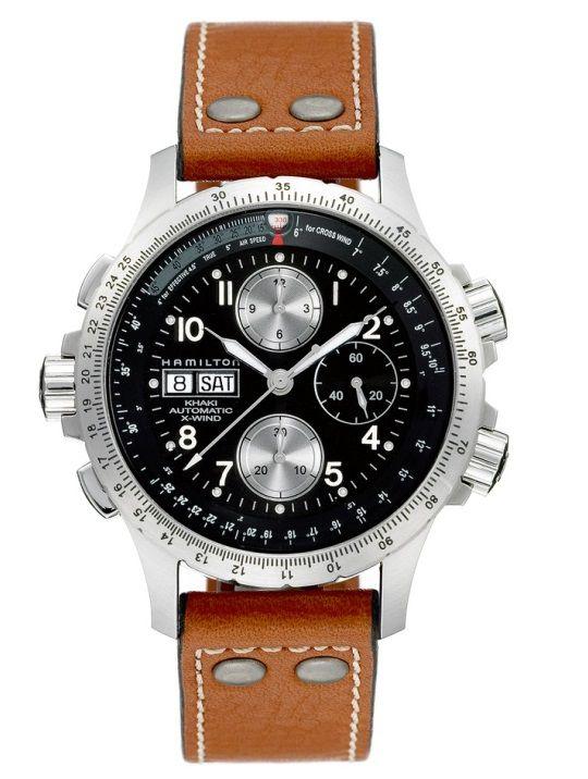 hamilton khaki aviation xwind auto chrono horloge h77616533