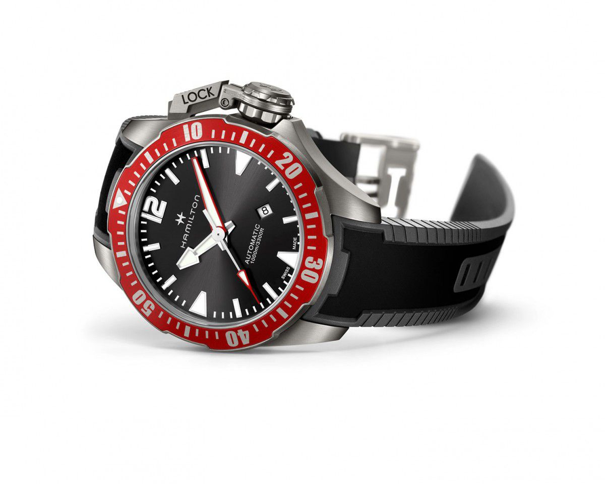 hamilton khaki navy frogman horloge kopen h77805335