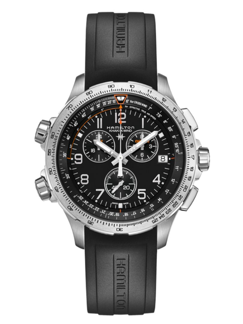hamilton khaki aviation xwind gmt horloge h77912335 1