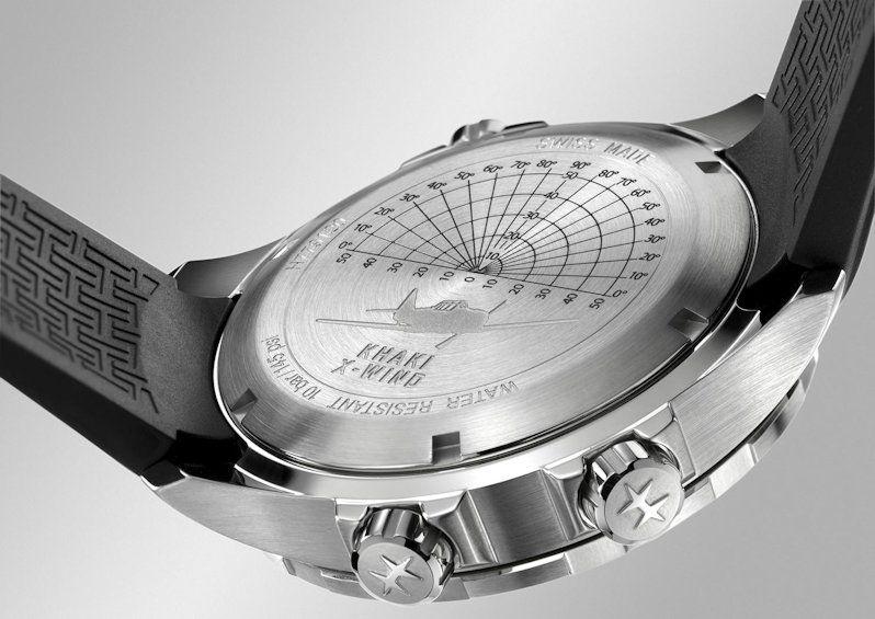hamilton khaki aviation xwind gmt horloge h77912335 2