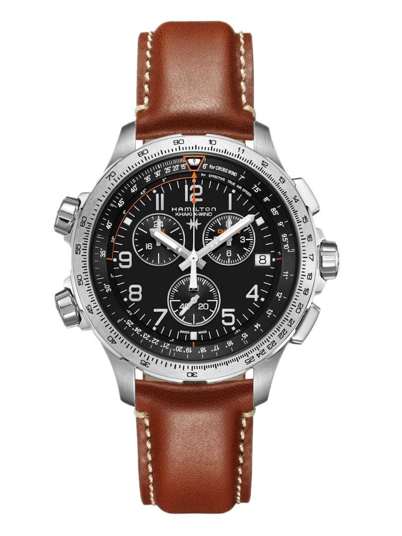 khaki aviation xwind gmt horloge h77912535 1