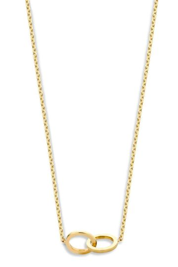 Iconic Double Open Circle collier