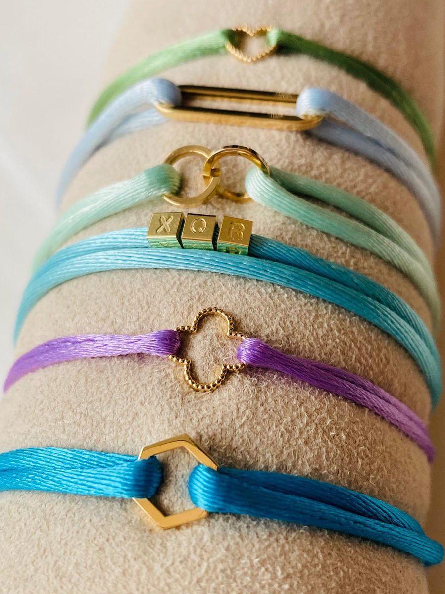 just franky vintage bracelet clover cord 2