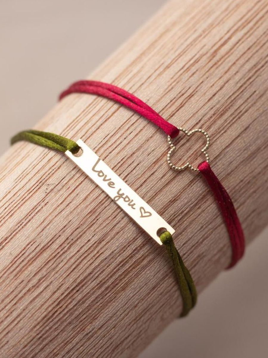 just franky vintage bracelet clover cord 3