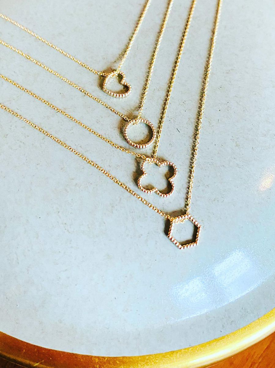 just franky iconic vintage hexagon collier 3