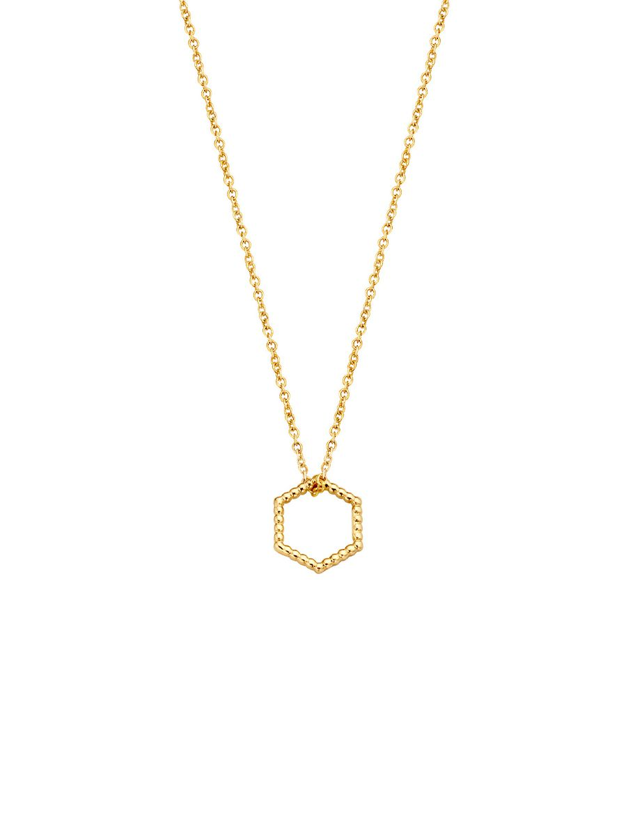 just franky iconic vintage hexagon collier