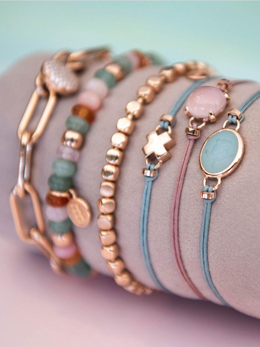 bron joy rosgouden armband kusje 8ar3981 3