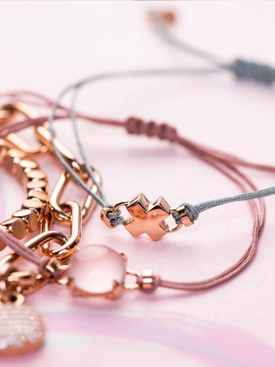 bron joy rosgouden armband kusje 8ar3981 2