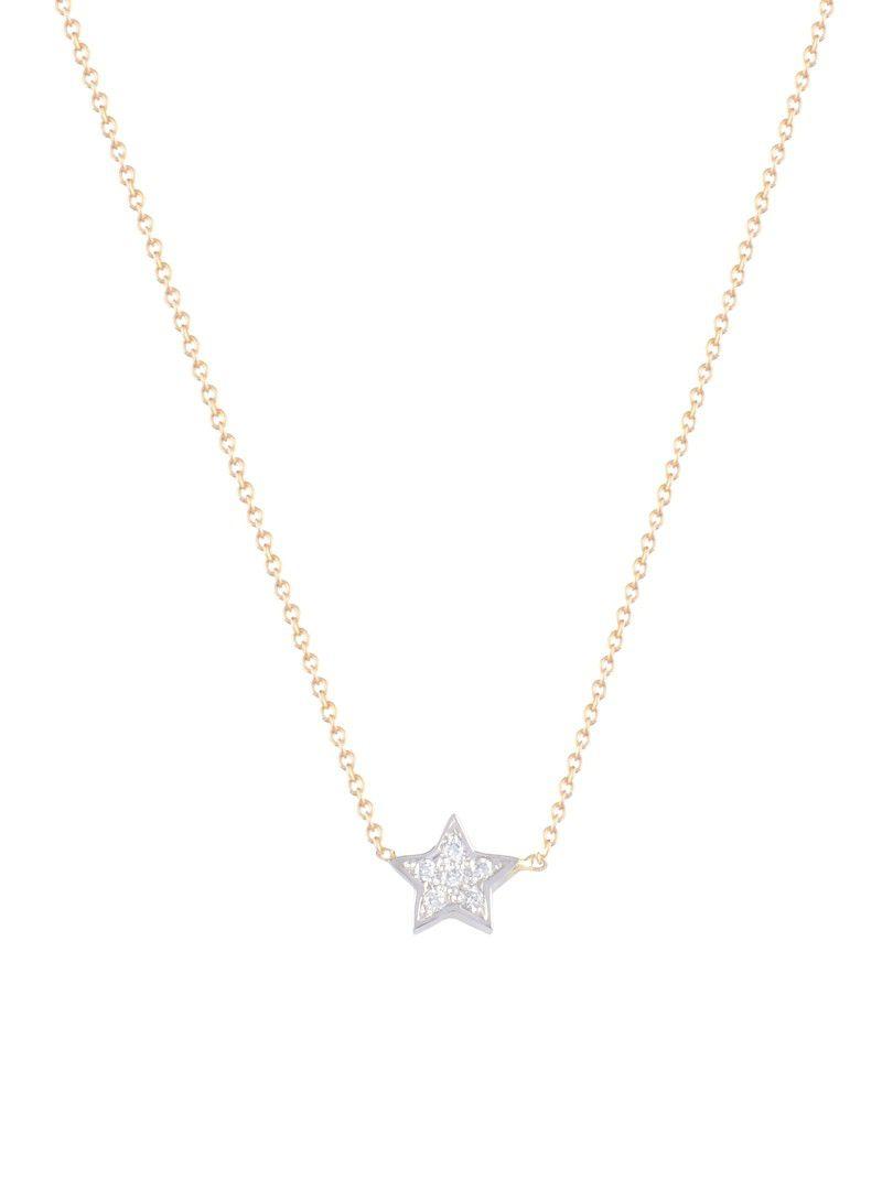 just franky just diamond star ketting