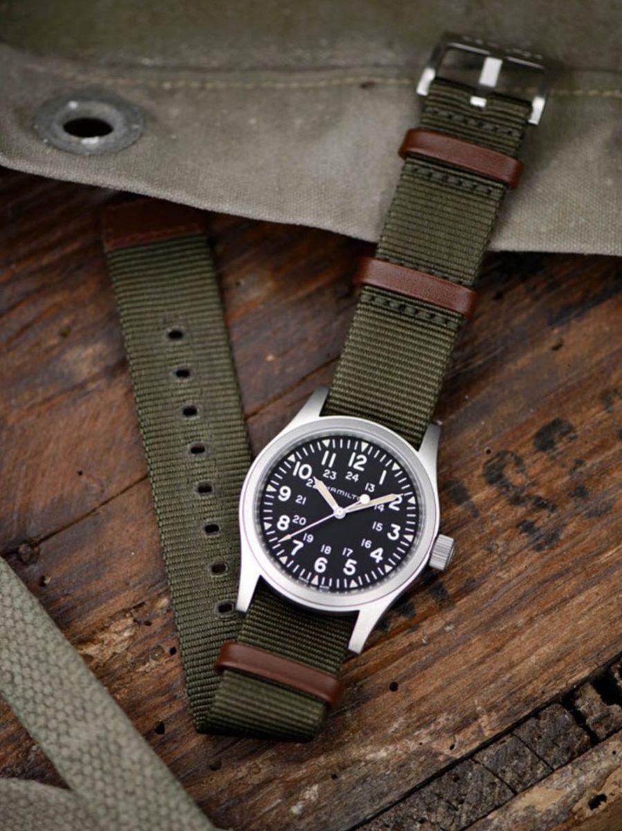 hamilton khaki field mechanical horloge h69529933 2