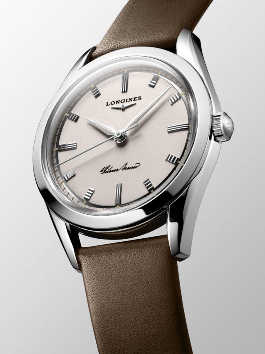 longines heritage classic silver arrow horloge l28344722 2
